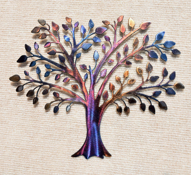 Tree of LIfe / Family Tree in Spring Metal Art Sculpture - Mountain Metal Arts