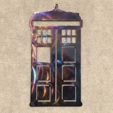 Load image into Gallery viewer, Dr. Who Tardis Phone Booth Metal Art Sculpture