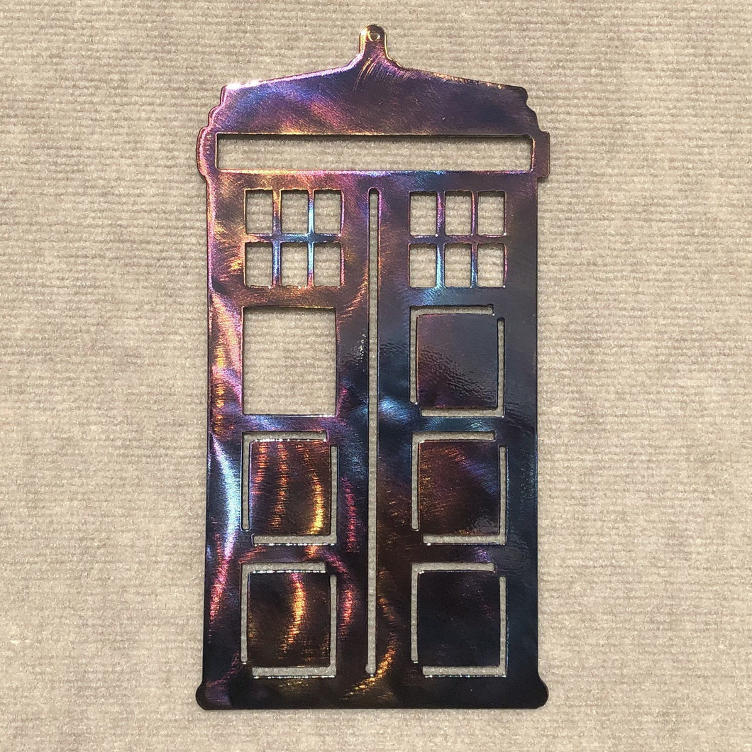 Dr. Who Tardis Phone Booth Metal Art Sculpture