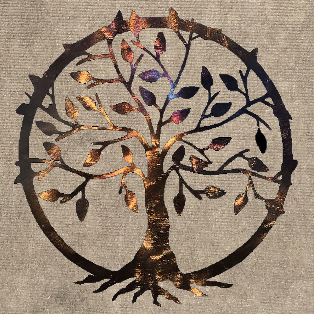 Tree of Life with Roots Metal Art Sculpture