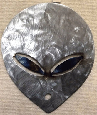 Alien Head / E.T. Metal Art Sculpture - Mountain Metal Arts