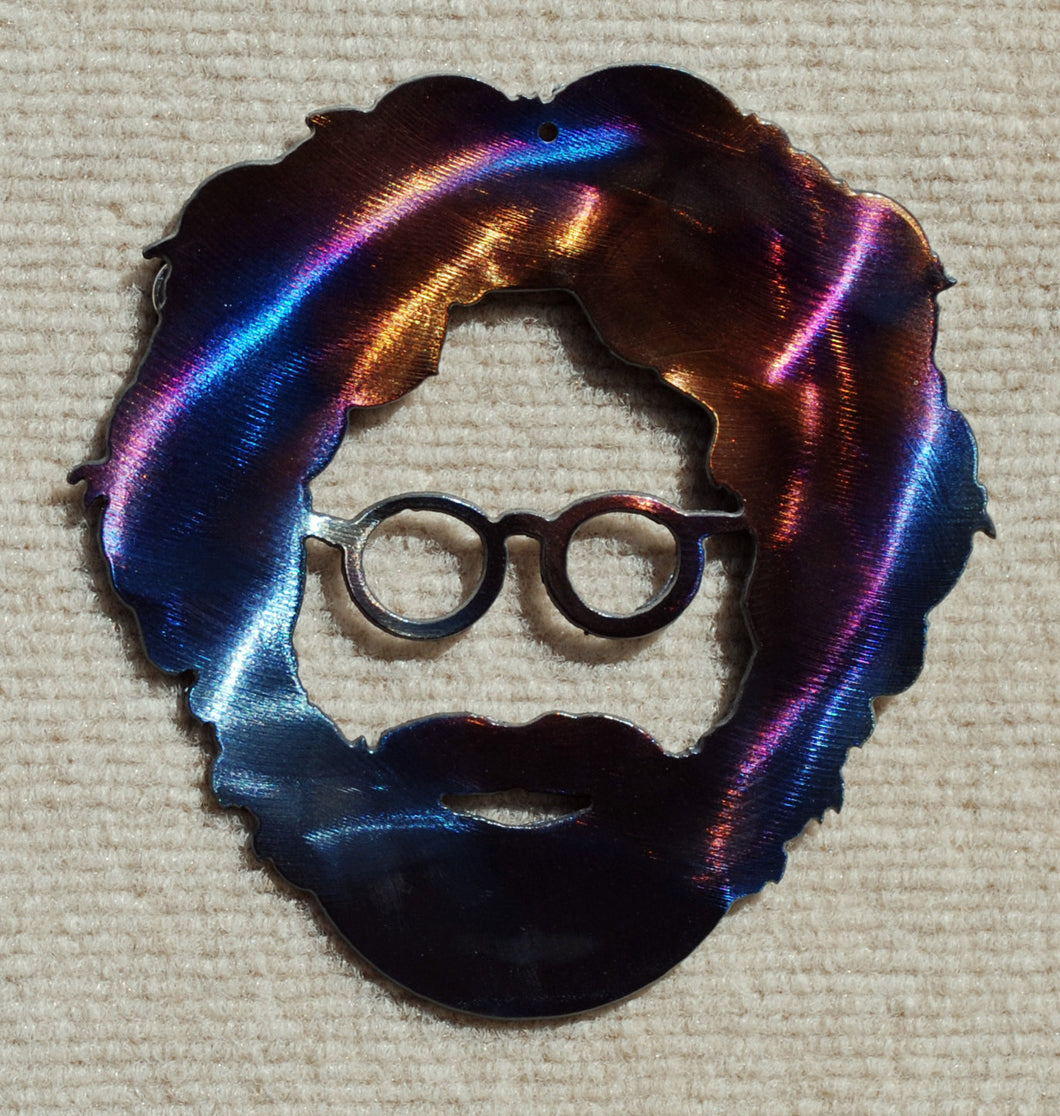 Jerry Garcia of the Grateful Dead Metal Art
