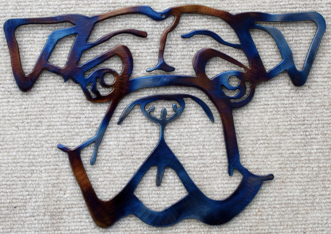 "Bulldog Outline Metal Art – 11"" - Mountain Metal Arts"