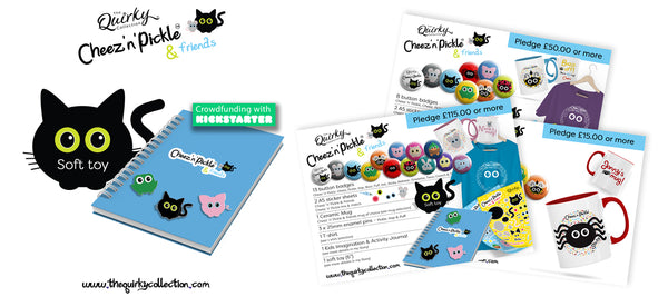 The Quirky Collection Cheez n Pickle Kickstarter crowdfunding campaign