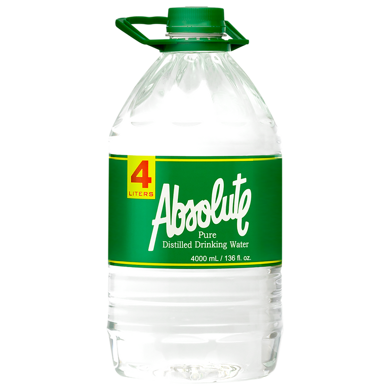 Absolute Distilled Drinking Water (4L x 4 bottles)