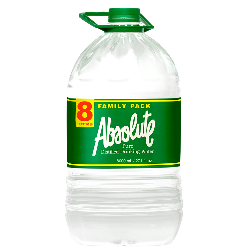 Absolute Distilled Drinking Water (8L x 2 bottles)