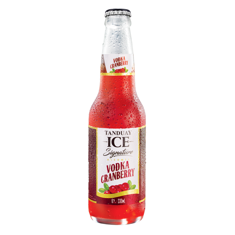 Tanduay Ice Signature Vodka Cranberry  One-way bottle (330ml x 24 bottles)