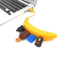 Load image into Gallery viewer, 4-Port Banana USB Hub PEN DRIVE
