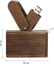 Load image into Gallery viewer, Rotation Bois Massif Haute Vitesse Stockage de données Memory Stick Pendrive
