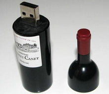 Load image into Gallery viewer, Wine Bottle USB Flash Drive