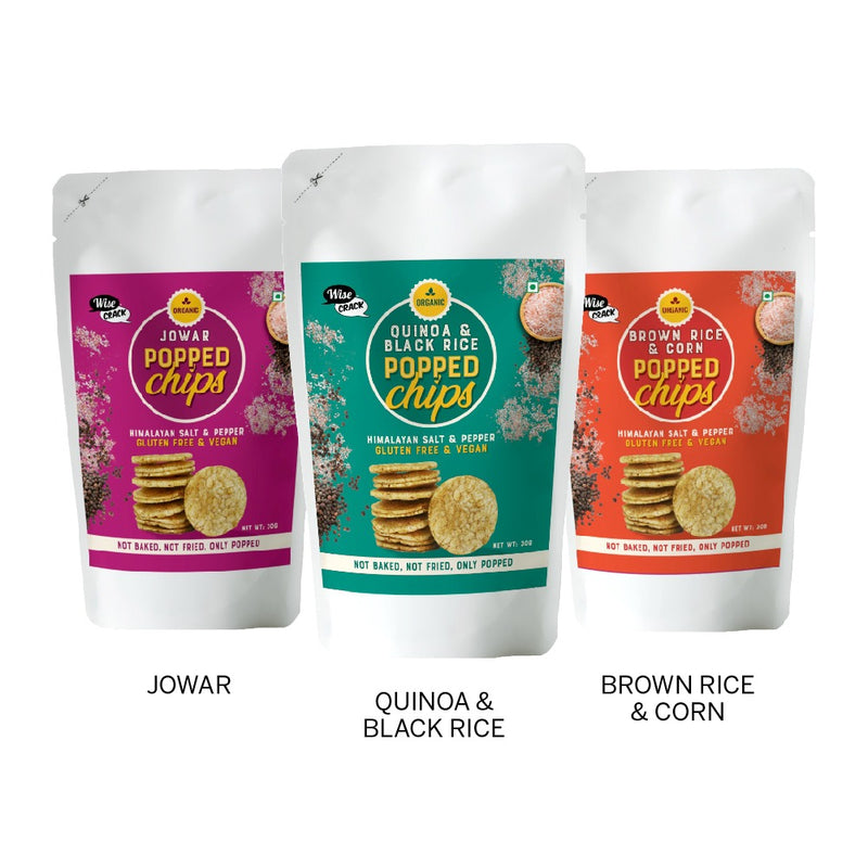 Assorted Popped Chips <br/> Pack of 3 Flavours