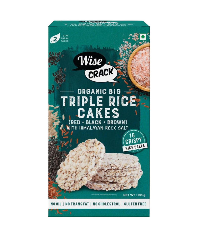 Organic Big Triple Rice Cakes - 105 gms