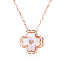 Load image into Gallery viewer, Rose Gold - Four-leaf clover Pendant Necklace