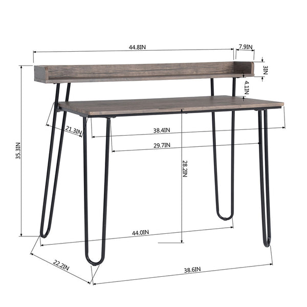 Metal Frame PVC Computer Desk for Home Office Modern Simple Study PC Laptop