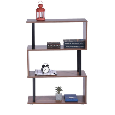 ANCEL 3 LAYERS 246T HJ 3 Tier Shelf for Home Or Office Beautiful Shelf for Home Decor-Walnut