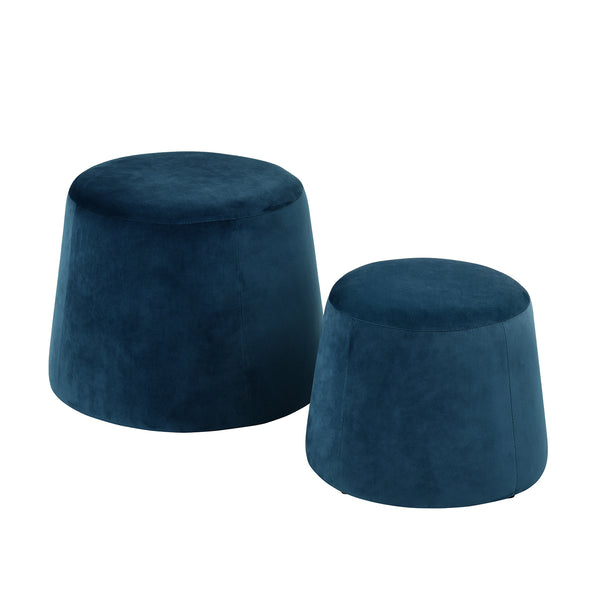 CLIFF Set of 2 Ottomans, Storage Function Ottoman, Cube Footrest Seat with Organizer