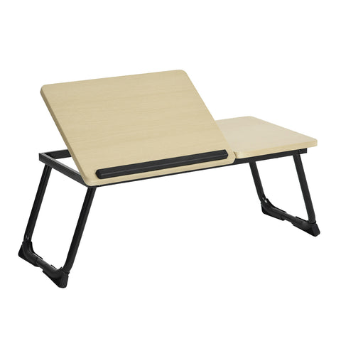 MAMIE Bed Table, Laptop Tray, Foldable Computer Tray Fits Up to 15.6 Inch Laptop for Home Office Breakfast