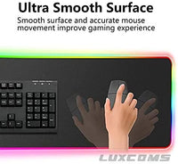 LUXCOMS RGB Soft Gaming Mouse Pad Large-thumbnail
