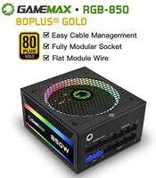 GAMEMAX Power Supply 850W Fully Modular 80+ Gold Certified-thumbnail