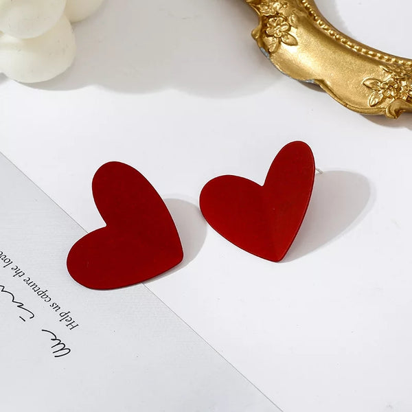 3 D Heart Earrings