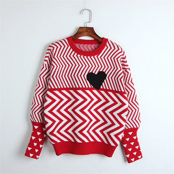 Geometric Heart Sweater