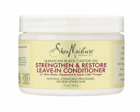 Shea Moisture Jamaican Black Castor Oil Leave-In Conditioner Strengthen & Grow 11 oz