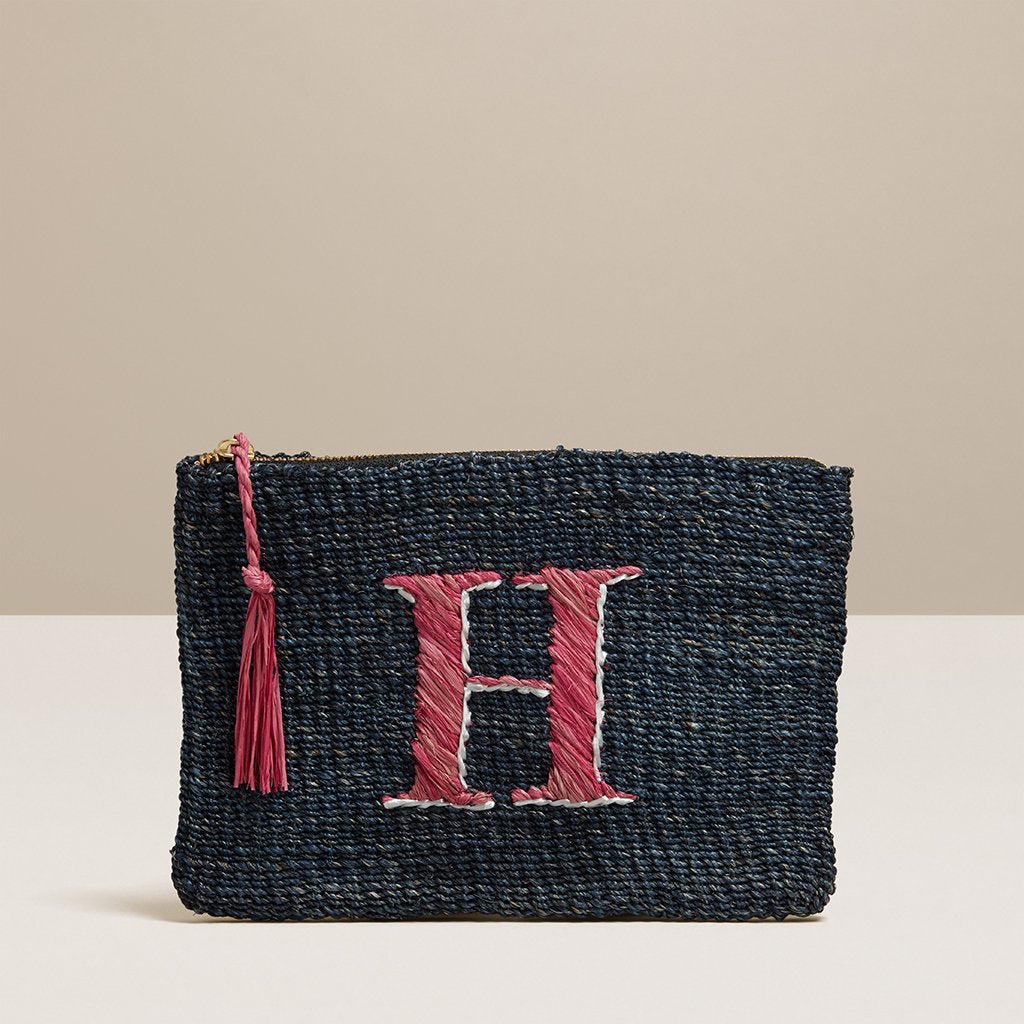 Initial Straw Pouch- Letter H