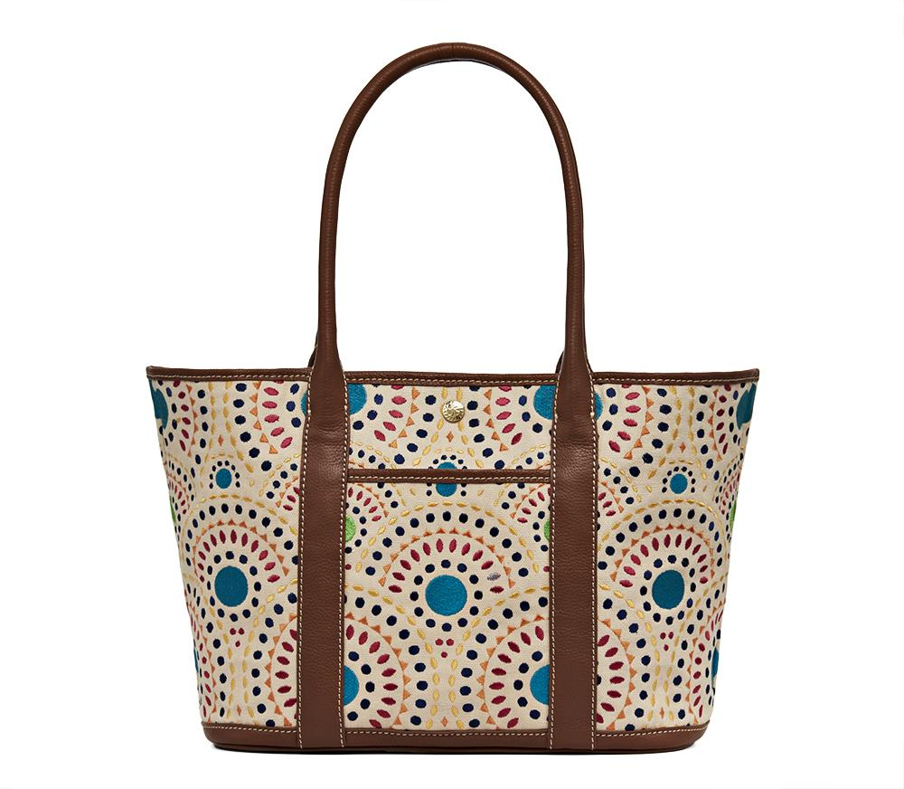 Cameron Embroidered Medium Tote-HANDBAGS-Jack Rogers USA