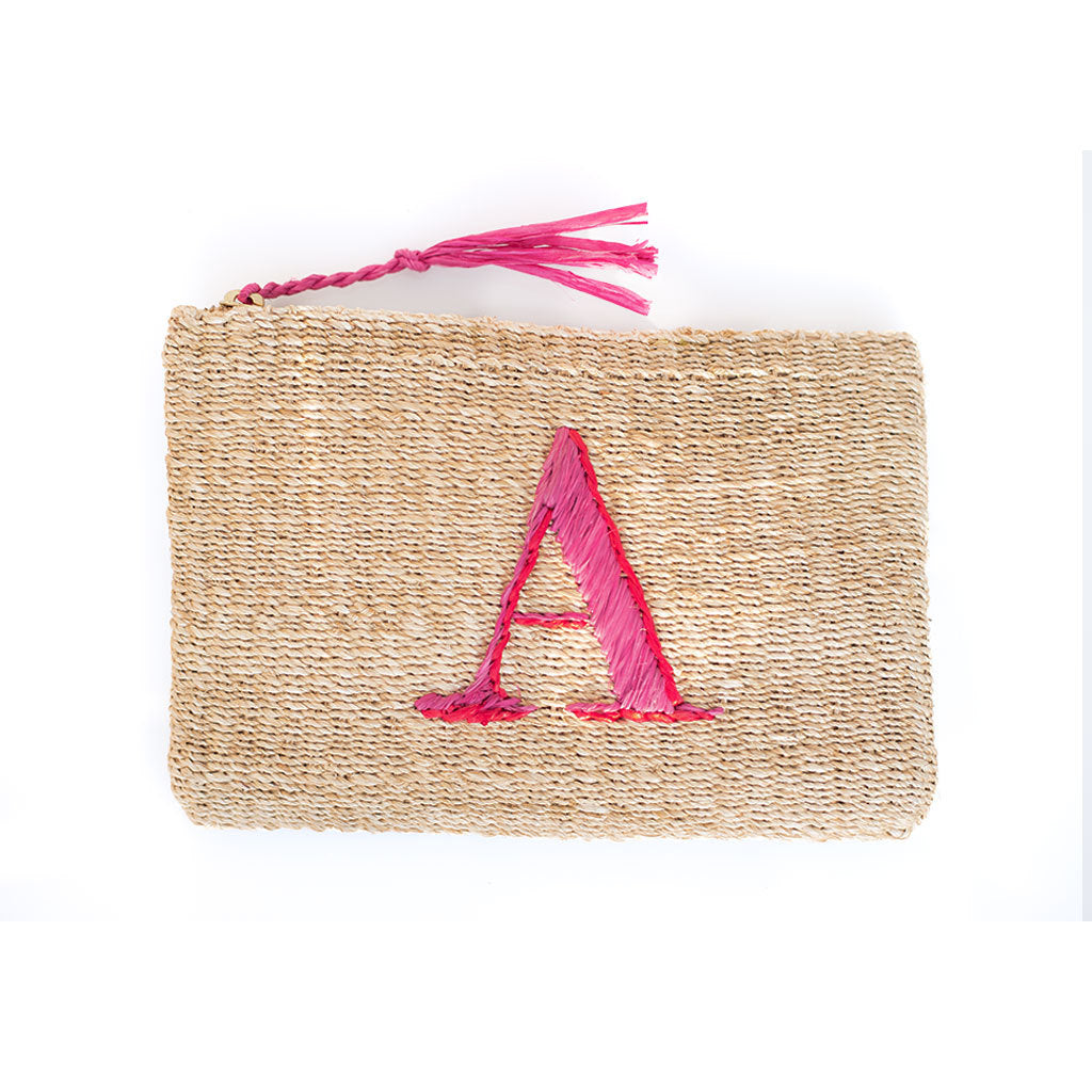 Initial Straw Pouch - Letter A