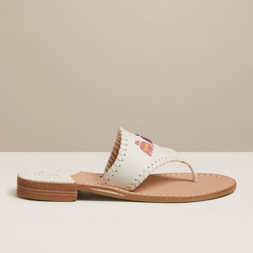 Embroidered Derby Jackets Sandal