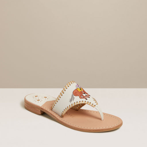 Embroidered Jockey Sandals
