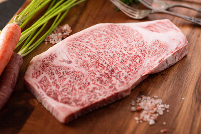 Miyazaki Japanese A5 Wagyu Beef New York Strip Steak | Japanese A5 Beef Steak