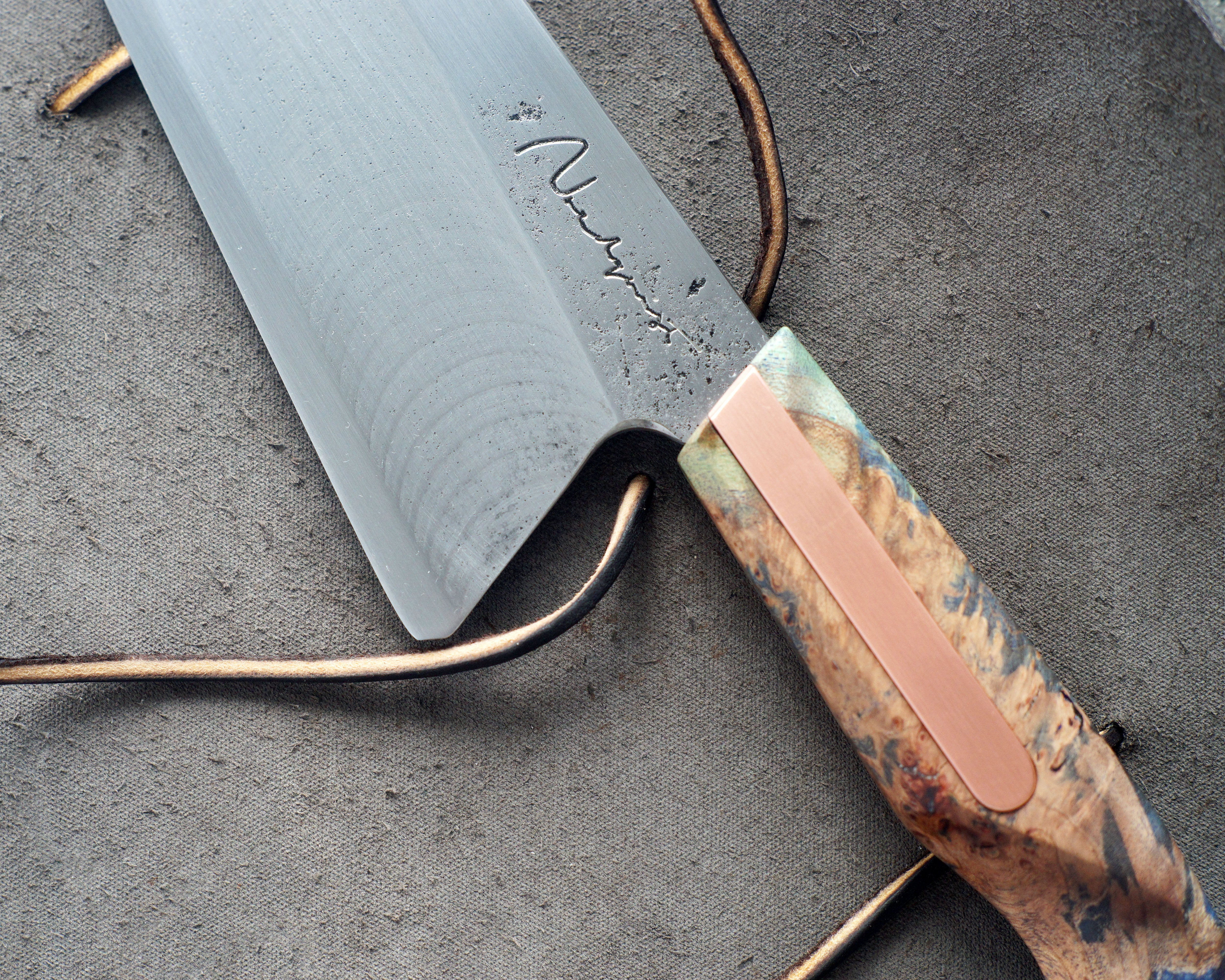 Maple & Copper S-Grind Nakiri