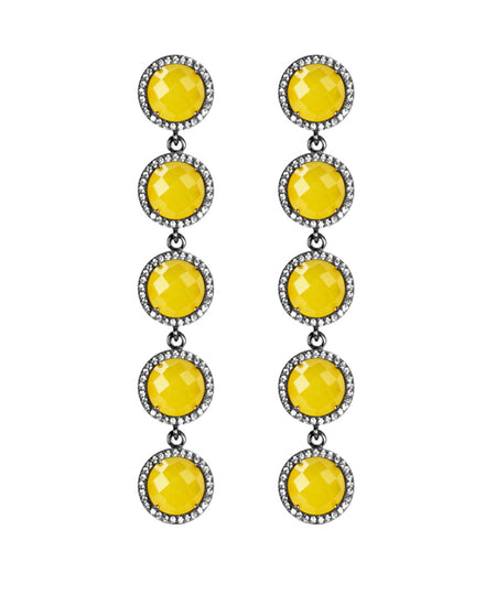 5-Stud Drop Earrings