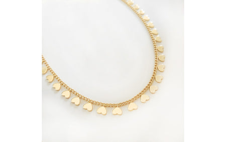 14K Gold Filled Hearts Necklace