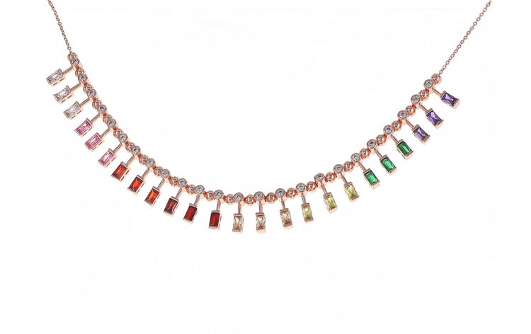 Rainbow Necklace - adjustable length