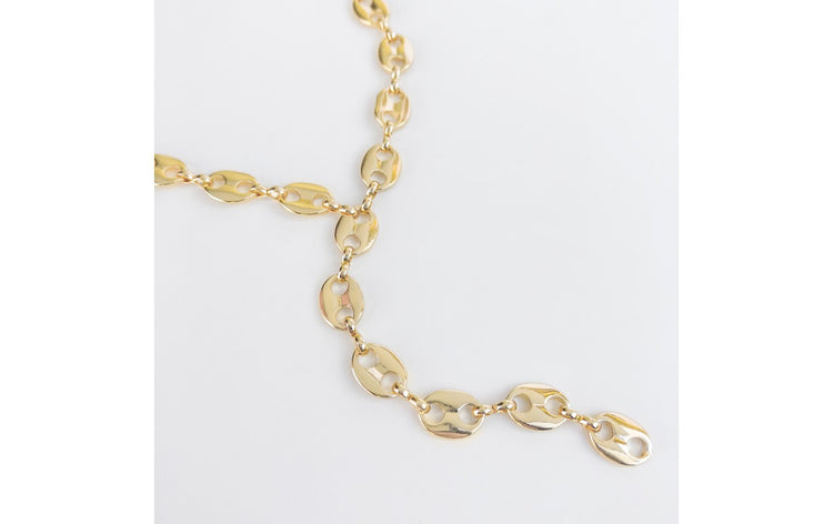 Lariat Mariner Paperclip Necklace