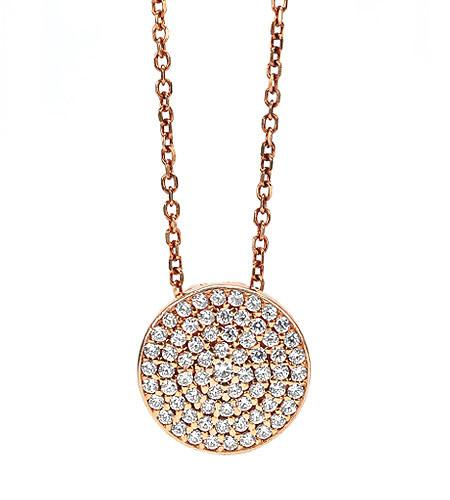 Sparkling disk necklaces- silver, gold, rosegold