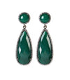 Emerald Green Drop Earrings