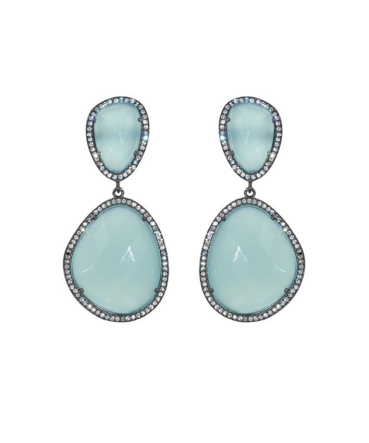 Opal Blue Drop Earrings