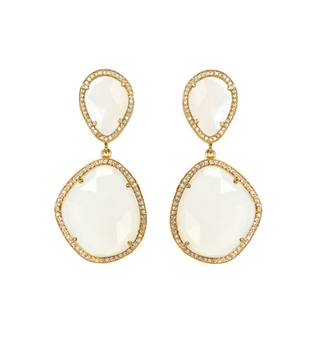 Drop Earrings Set in Gold Plated Sterling Silver with gold finish