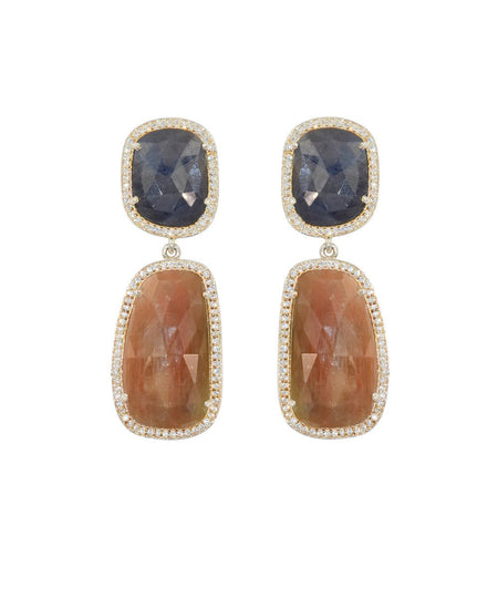 Sliced Sapphire Earrings