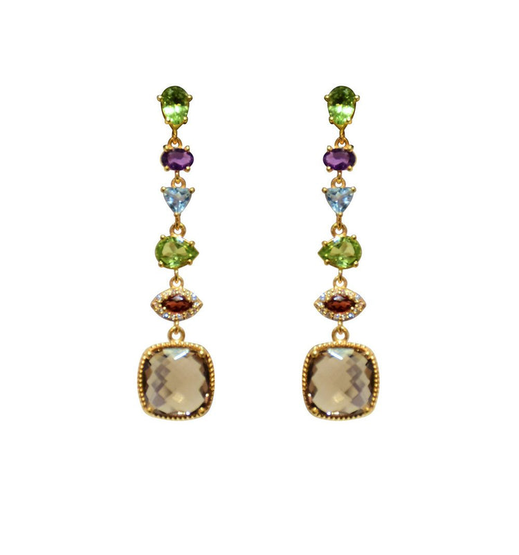 SemiPrecious Stone Drop Earrings