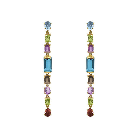 SemiPrecious Stones Drop Earrings