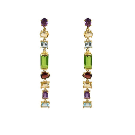 SemiPrecious MultiStone Drop Earrings
