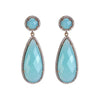 Opal Blue stone earrings
