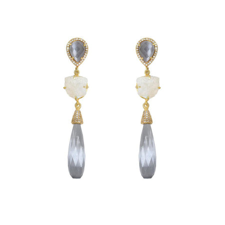 Elongated Teardrop Earrings
