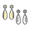 Scallop Earrings, Citrine or Clear