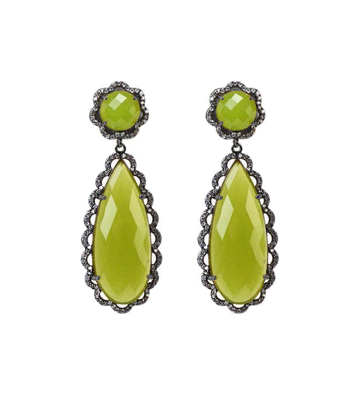 Scallop Earrings, Turq or Lime
