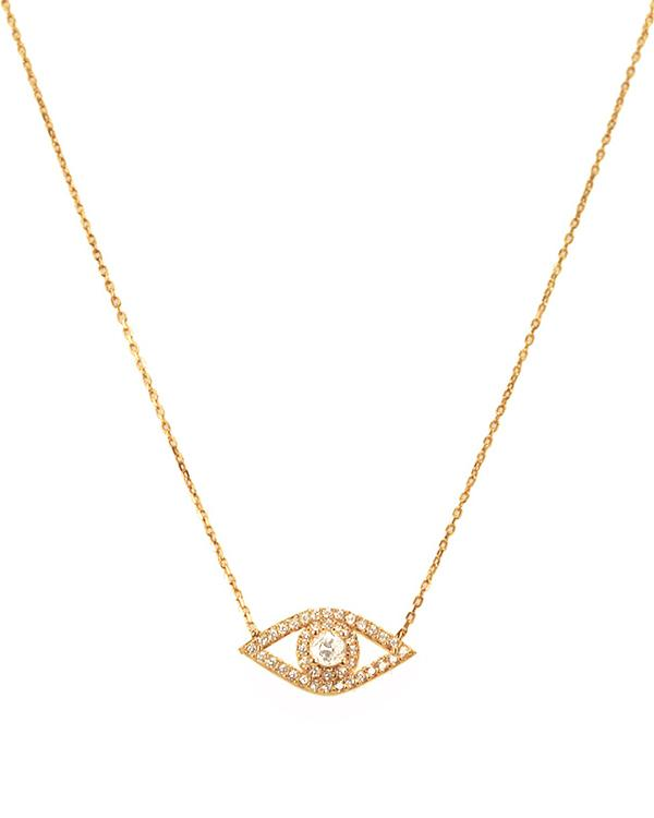 Classic Sparkling Evil Eye Necklace